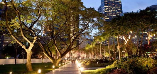 Ayala triangle park makati city philippines aecom for Filipino landscape architects