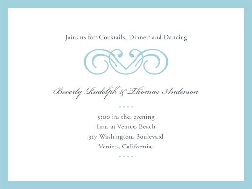 Wedding Invitation Reception Card
