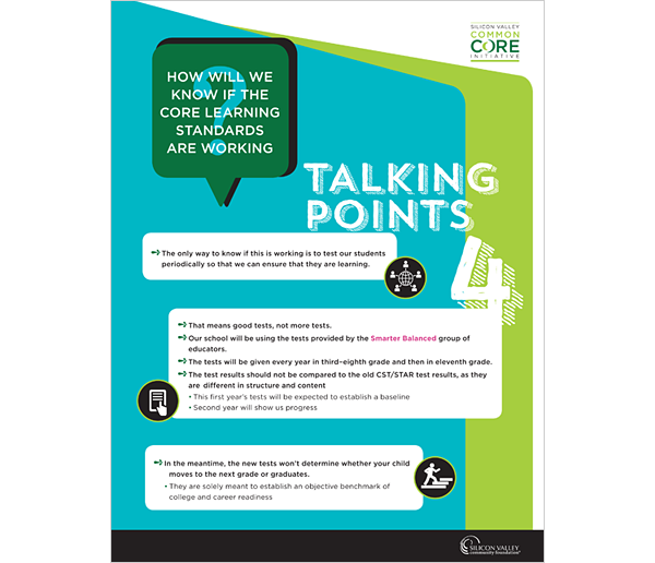 SVCF Common Core Talking Points