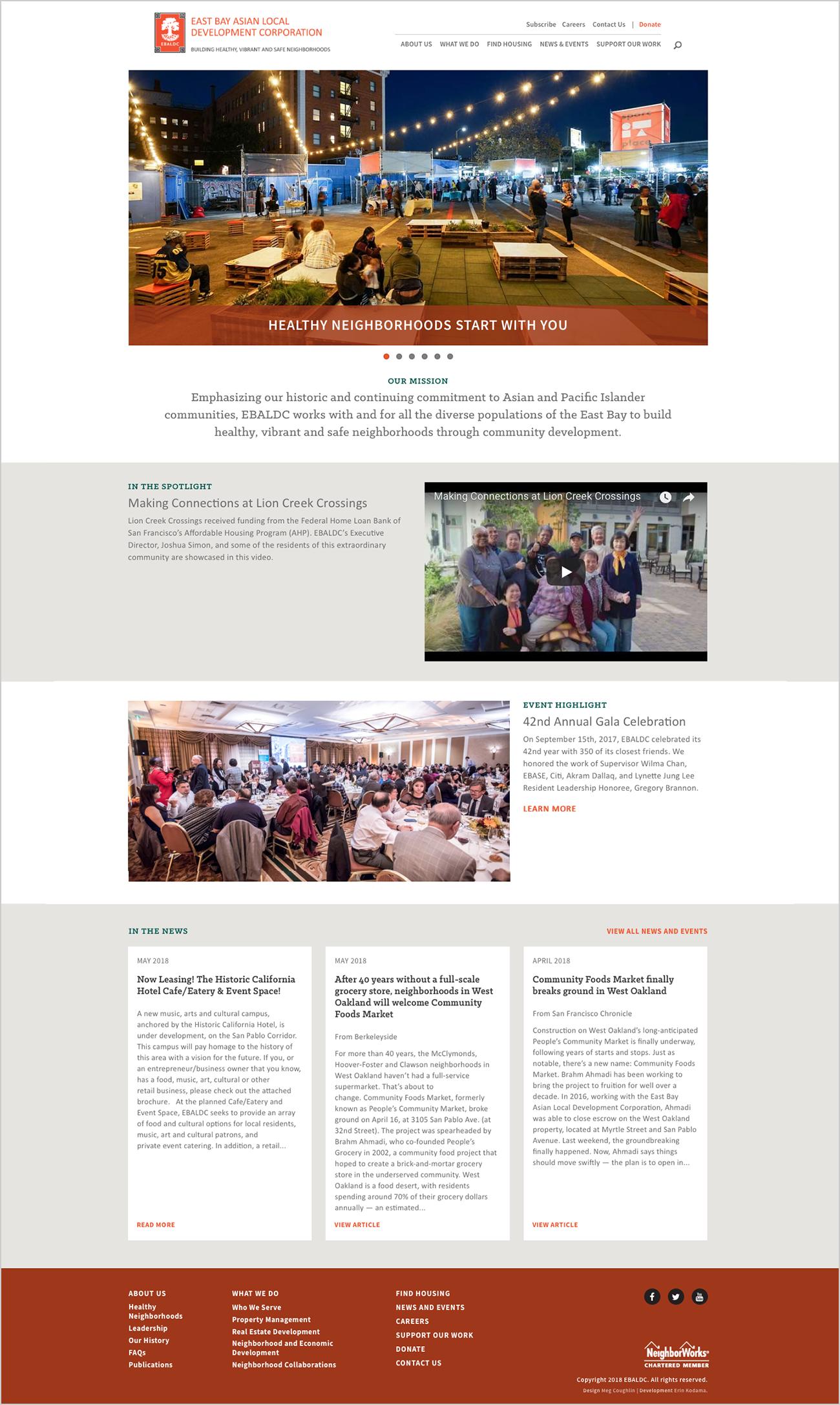 East Bay Asian Local Development Corporation website